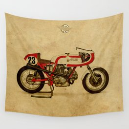 motorcycle 750SS Corsa 1974 Wall Tapestry