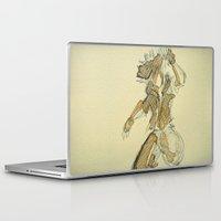 kingdom hearts Laptop & iPad Skins featuring Sora KINGDOM HEARTS coffee art by DarkGrey Heroine