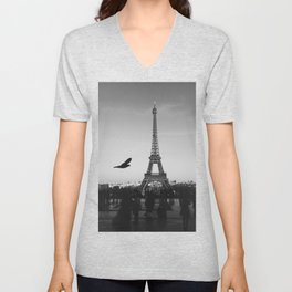 Eiffel Tower (Paris, France) Unisex V-Neck