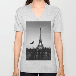 Eiffel Tower (Paris, France) Unisex V-Neck