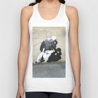 banksy Tank Tops featuring BANKSY  by Art Ground