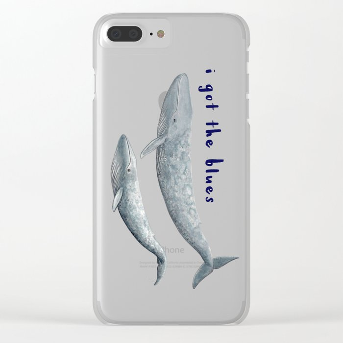 I got the blues... Clear iPhone Case