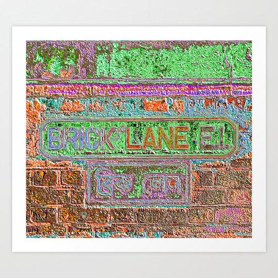Brick Lane 3 B Art Print