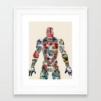 superheros Framed Art Prints featuring modern ironman  by bri.buckley