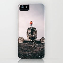 Iceland Airplane Wreck iPhone Case