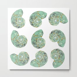 Marbled Chambers of the Nautilus Metal Print
