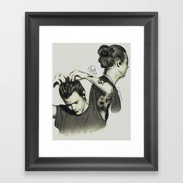 Harry Styles, Man Bun Framed Art Print