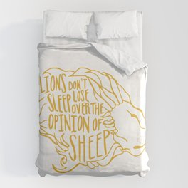 Lions don't lose sleep Duvet Cover
