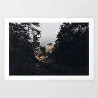 OCEAN CLIFF  Art Print