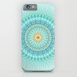 Turquoise Gold Boho Mandala iPhone Case