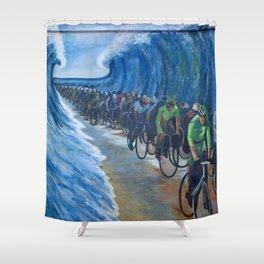 Biking Through the Red Sea Shower Curtain
