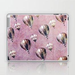 Vintage Hot Air Balloons Pink purple Retro Floral Damask Laptop & iPad Skin