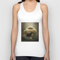study Tank Tops featuring Study of a Gibbon - The Thinker by Pauline Fowler ( Polly470 )