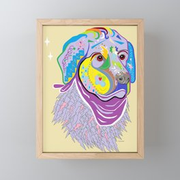 Great Pyrenees Dog Framed Mini Art Print