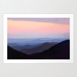 Breath Taking Blue Ridge Mountains Art Print