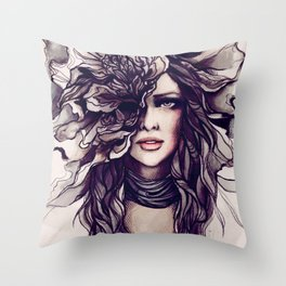 eyes of the same face Throw Pillow