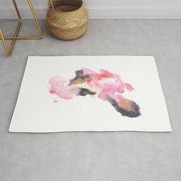 Watercolor Pink Black Flow | [dec-connect] 25. move Rug