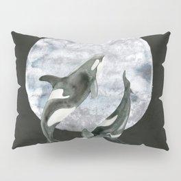 orcas' moon dance Pillow Sham