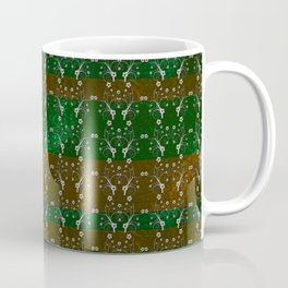 Foil Flower in Green and Gold Coffee Mug