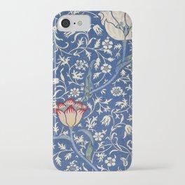 William Morris Victorian blue flowers iPhone Case