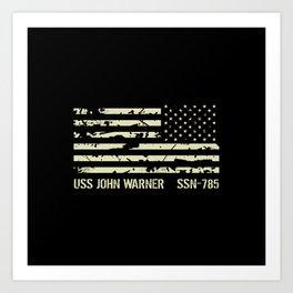 USS John Warner Art Print