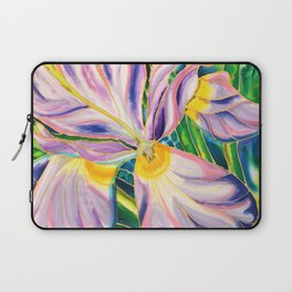 White Iris of Belize Laptop Sleeve