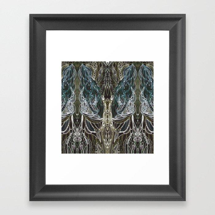 Forest lace Framed Art Print