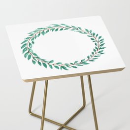 Green Wreath Side Table