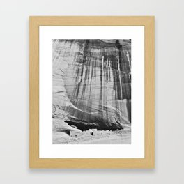 White House Ruins in Black & White Framed Art Print