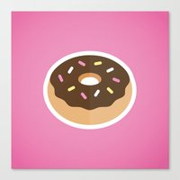 donut Canvas Prints featuring Donut by Mike McDonald