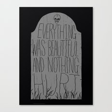 slaughterhouse V - everything was beautiful - vonnegut Canvas Print