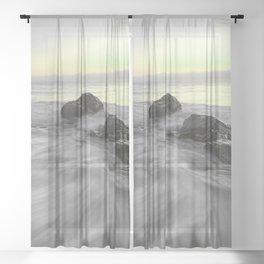 OCEAN WAVES XII Sheer Curtain