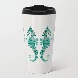 Seahorse – Silver & Turquoise Travel Mug