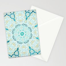 Where's My Indian Flower? (Blue and Gold) Stationery Cards