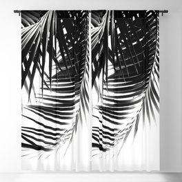 Palm Leaves Black & White Vibes #3 #tropical #decor #art #society6 Blackout Curtain