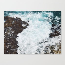 Crashing waves in the Caribbean Sea Canvas Print