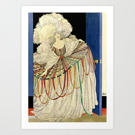 "Art Deco Design ""Multicolored Pannier"" Art Print"