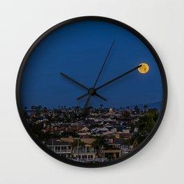 Christmas Moon Wall Clock