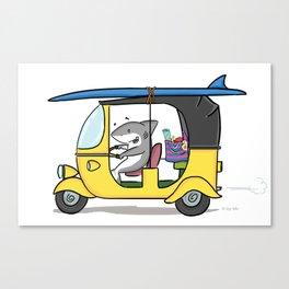 Tuk Tuk Shark! Canvas Print