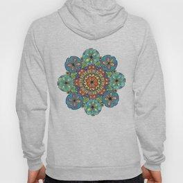 Blue Flower Mandala Hoody