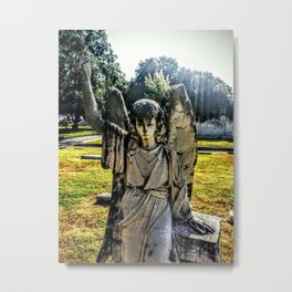 Angel Monument (Grove Hill Cemetery, Dallas TX) Metal Print