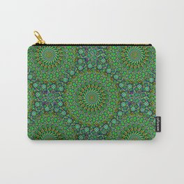 Emerald Circles Carry-All Pouch