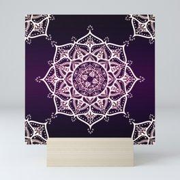 Violet Glowing Spirit Mandala Mini Art Print