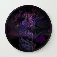 lovers Wall Clocks featuring Lovers by Christy Leigh
