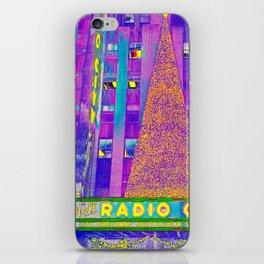 Radio City Music Hall with Holiday Tree, New York City, New York iPhone Skin