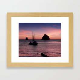 Sunset at First Beach - La Push Framed Art Print