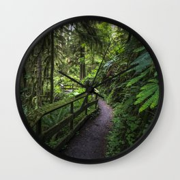 Walk through the rain forest Wall Clock