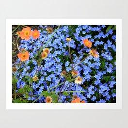 Blue, Orange, and Green Art Print