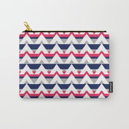 Chevron in pink and blue Carry-All Pouch