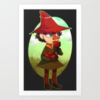 moomin Art Prints featuring Joxter by lemonteaflower